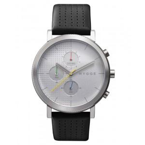 Hygge 2204 Chronograph, šedé, kovový pásek